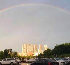 哇塞,今天松滋被彩虹刷屏!你看,多美!